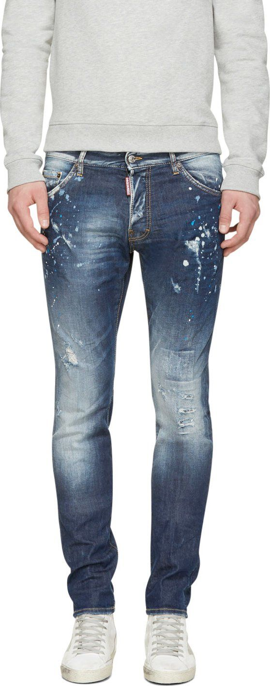 Dsquared2 - Blue Distressed Cool Guy Jeans