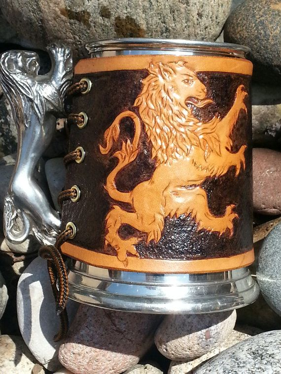 how to make a leather tankard