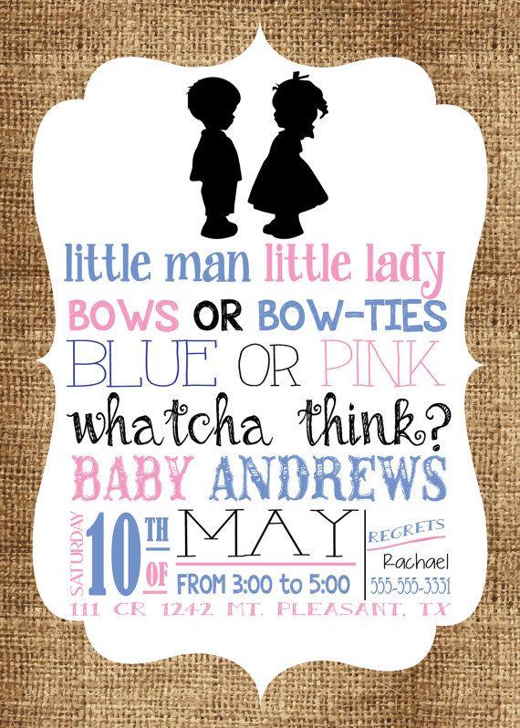 19 best Gender Reveal images on Pinterest Gender reveal, Gender - fresh birthday invitation baby girl