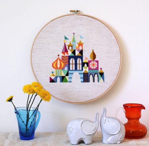 Pretty Little City - Retro Disney Inspired Cross stitch embroidery pattern PDF - Instant download