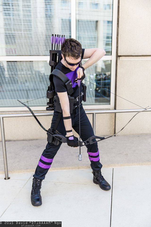 """Hawkeye cosplay """"you've made your last mistake...ground..."""""""