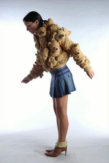 This isn't okay no matter WHAT age you are! Teddy Bear Fur Coat:    Designed by Sebastian Errazuriz  Tags: fashion, photo, teddy bear