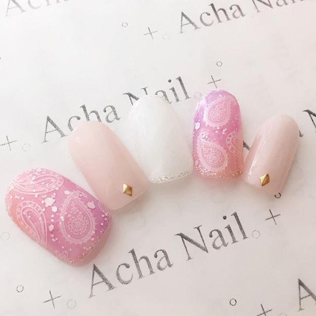 Dream exchange Paisley nail ♡ http://ameblo.jp/acha-nail/entry-12113659959.html # nail # Gel Nail # Nail Salon # Ikebukuro ...