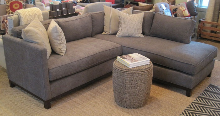 Sectional Sofa: Clifton Sectional in Alcott Steel by MG+BW