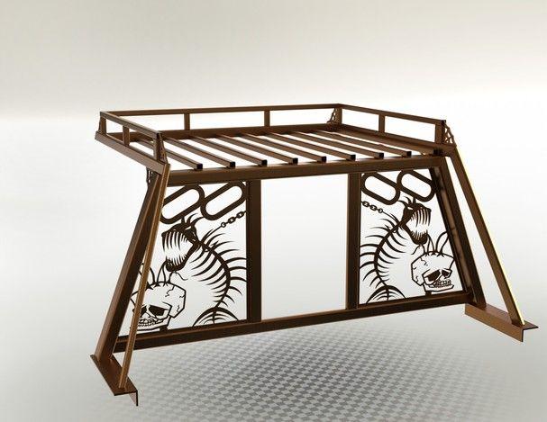 Headache Rack w/ Roof Top storage - STEP / IGES, SOLIDWORKS - 3D CAD model - GrabCAD