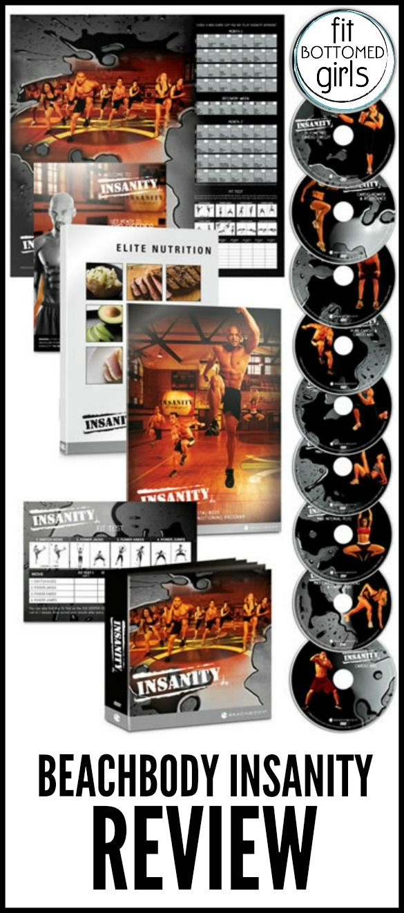 The Insanity workout DVD system totally lives up to its name!