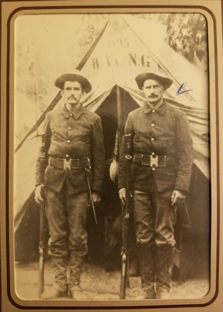 My great grandfather serving in the Spanish American War - 1895