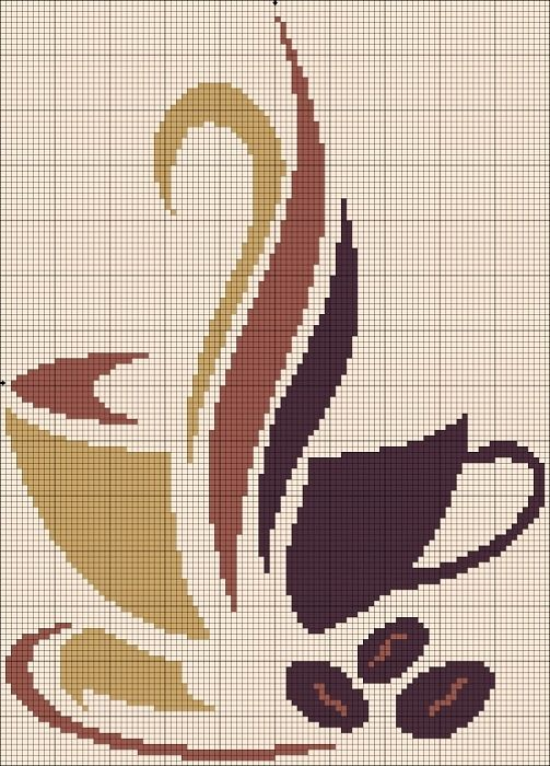 coffee cross stitch pattern