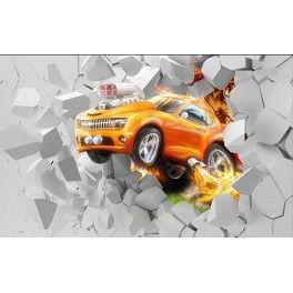 Papier peint 3D - Super voiture