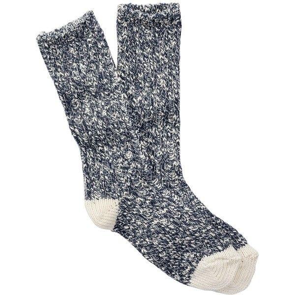 Free Press Solid Toe Knit Boot Socks ($5.97) ❤ liked on Polyvore featuring intimates, hosiery, socks, navy, navy blue socks, navy socks, crew length socks and knit socks