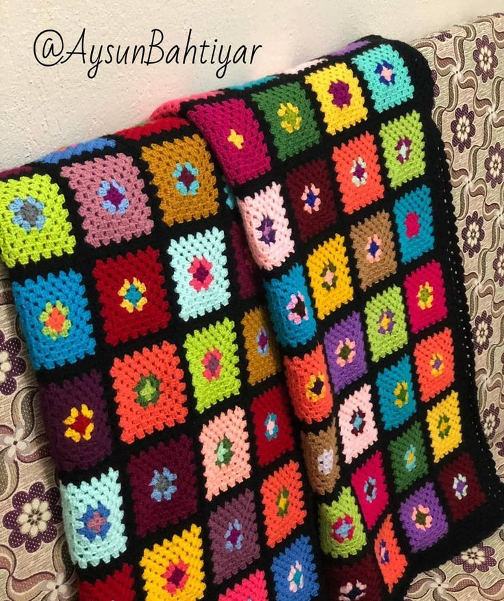 Crochet Granny Square Blanket 6 Round 3 Color 114 Example