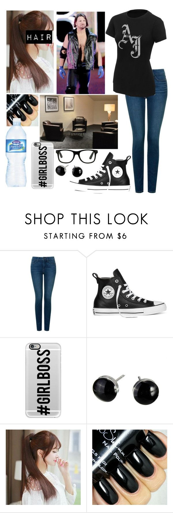 """""""Talking with AJ Styles after his Royal Rumble debut"""" by godslastgift ❤ liked on Polyvore featuring NYDJ, Converse, Casetify, Pin Show and Nestlé"""