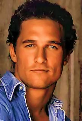 Matthew McConaughey -- he was sure pretty when he was young!