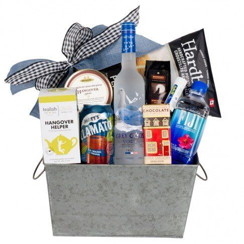 Hangover Helper Gift Basket - Great idea to send for an after-wedding gift