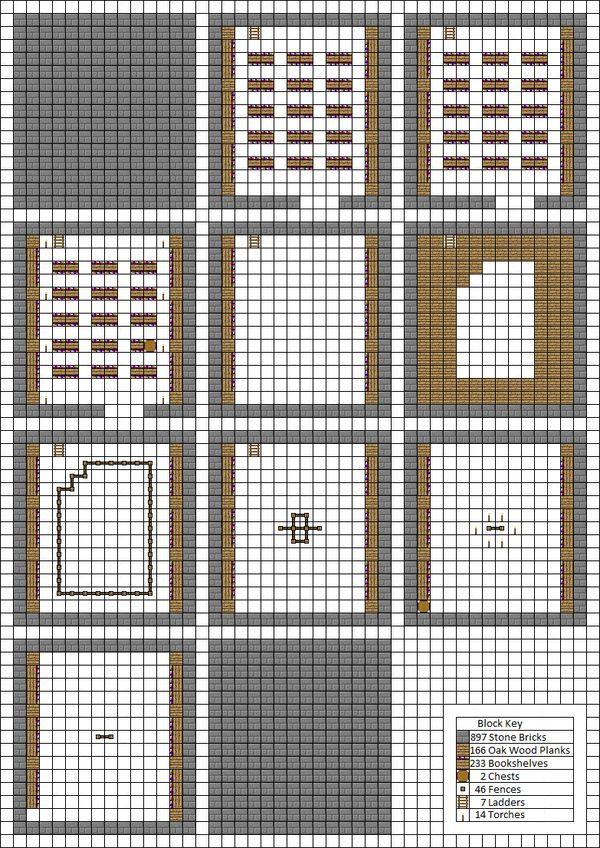 33 best minecraft blueprints images on pinterest minecraft so i couldnt find anything regarding the layout of the various rooms that can be found inside of minecraft strongholds malvernweather Choice Image