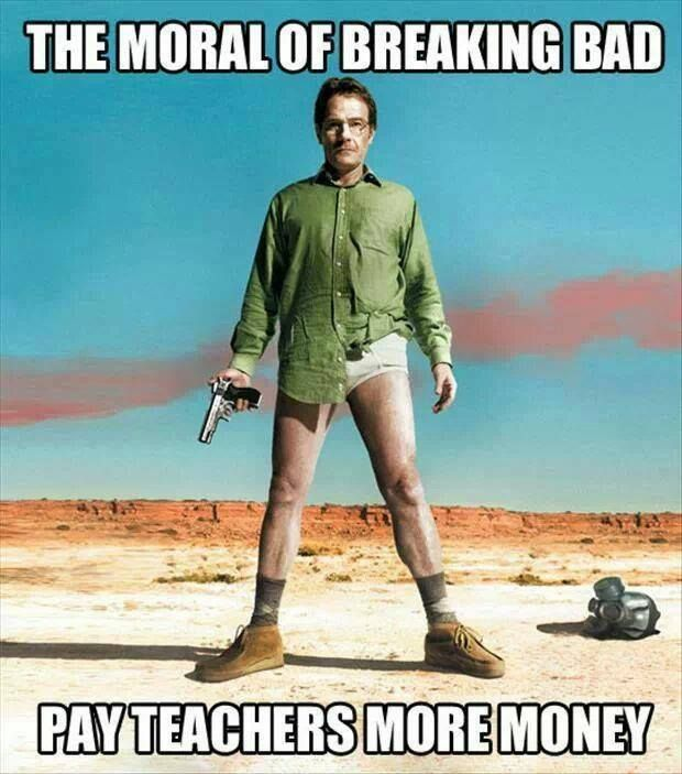And that the United States healthcare system is terrible. breaking bad