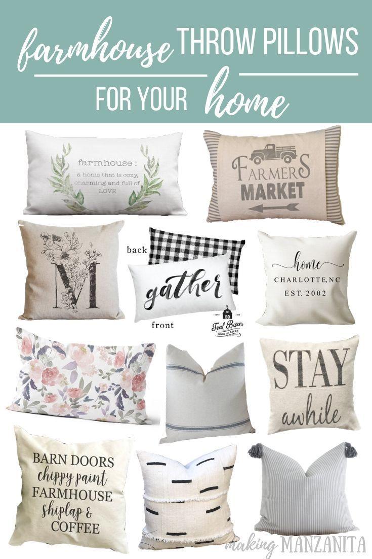 Farmhouse Throw Pillows For Your Home Making Manzanita Farmhouse Throw Pillow Throw Pillows Farmhouse Throws