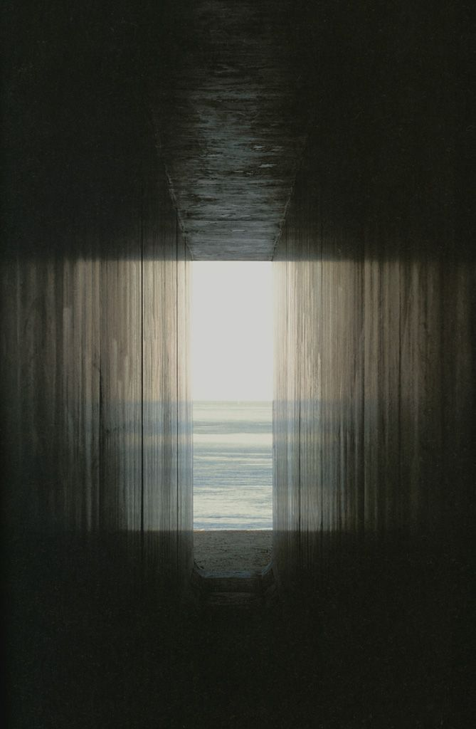 crashinglybeautiful:    Hiroshi Sugimoto, View from the passage toward the exit. Thank you, 3wings.