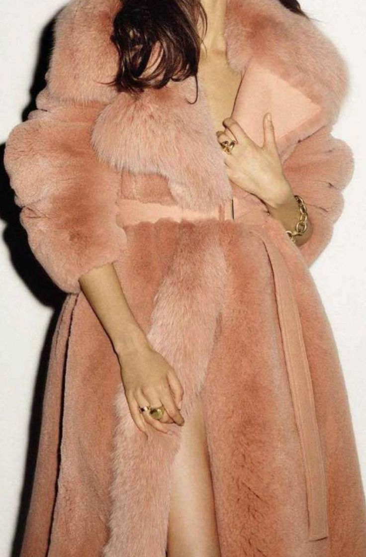 Faux fur and baby pink!!! Dream combo