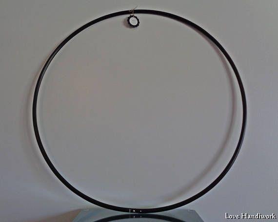 27 Black 5/8 O.D. Recycled Polypro Hula Hoop