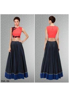 Bollywood Replica - Party Wear Multi-Colour Crop Top Lehenga - FML-06