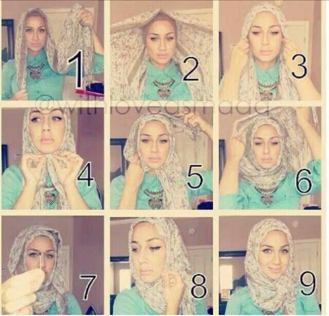 How to Fold a Hijab Headdress