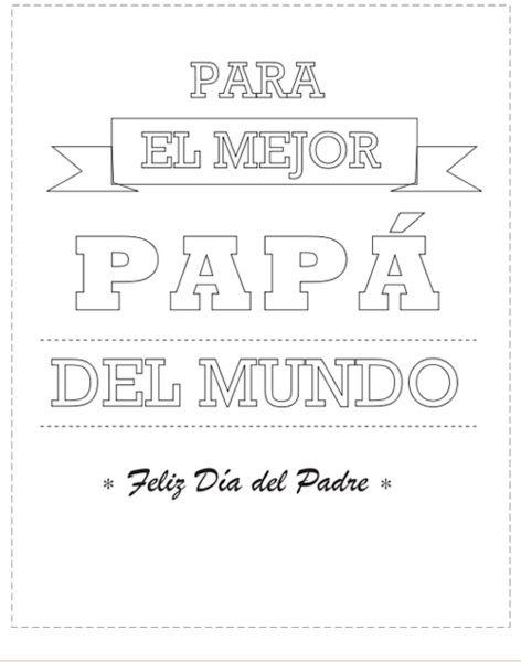 Para papá con mucho amor. DIY día del Padre.