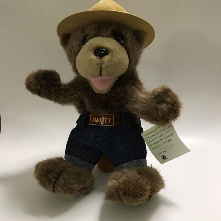 Smokey The Bear Plush Hand Puppet Sykes Services  #Sykes