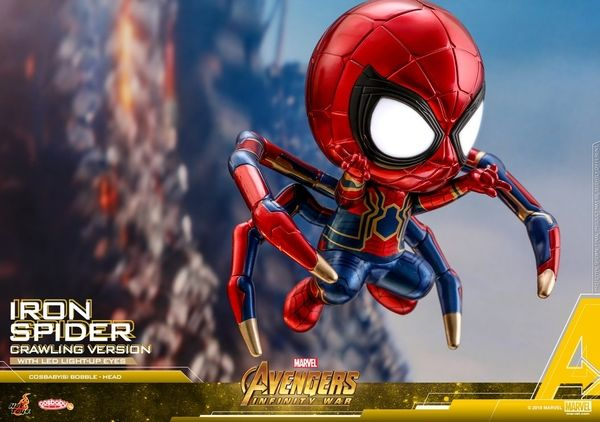 hot toys Cosbaby Avengers Infinity War Iron Spider Man Light Up Crawling Ver.