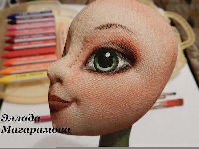 Как нарисовать кукле глаза. Как расписать лицо куклы / Мастер-класс
