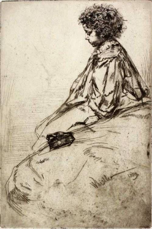 Bibi Lalouette, 1859 - James McNeill Whistler