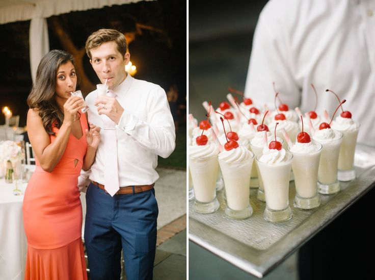 Mini milkshakes at Lowndes Grove by the PPHG culinary team | Charleston, South Carolina | Photo by Aaron and Jillian