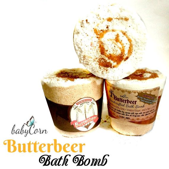Butterbeer Inspired Bath Bomb by babyCornSoaps. After all this time..... Always.