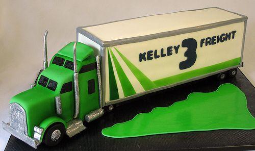 18 Wheeler Truck Birthday Cake cakepins.com