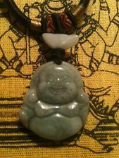 Happy Buddha Jade Amulet Meditation Pendant Free Thai Tattoo Prayer Cloth NR  – Spirituality Architecture  Traditional Buddhism Hinduism Color Therapy Energy Medicine Astrology