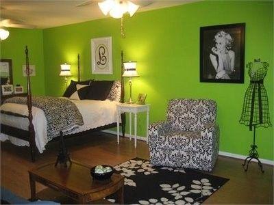 tween rooms - Bing Images: Wall Colors, Teen Rooms, Teenage Girls, Girls Bedrooms, Green Wall, Black White, Green Rooms, Girls Rooms, Bedrooms Ideas
