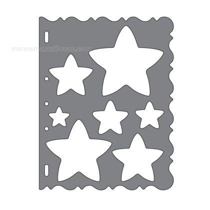 Manos Maravillosas Plantillas de corte modelo Estrellas