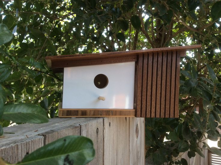Mid century modern birdhouse by Sourgrassbuilt on Etsy https://www.etsy.com/listing/248121236/mid-century-modern-birdhouse