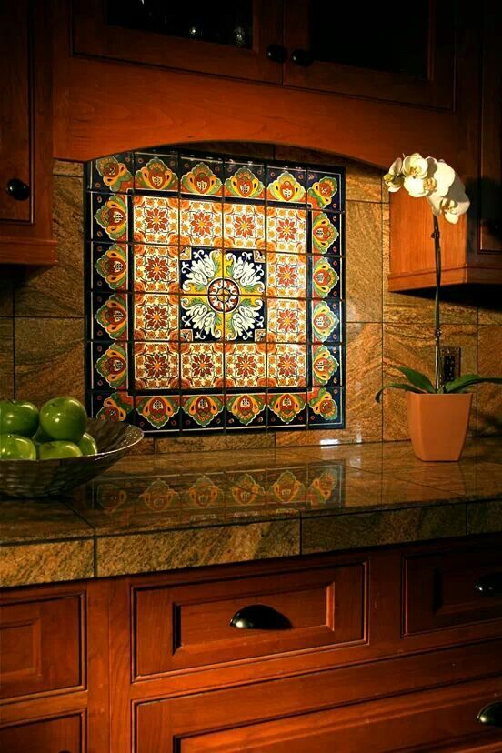 Mexican tile serves as a great focal point, bringing color and earthiness into any space.