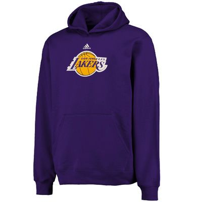 Youth adidas Purple Los Angeles Lakers Primary Logo Pullover Hoodie