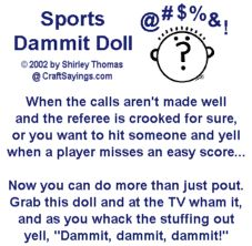 Dammit Doll Pattern & Poems from CraftSayings.com ...