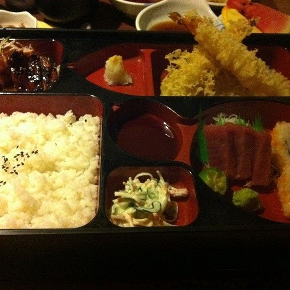 The restaurant is large and open with modern decor. You will like the feel of it, the warm woods help the large open space not feel too cold. We provide exceptional service. #JapaneseRestaurant #Sushi #japaneseFood