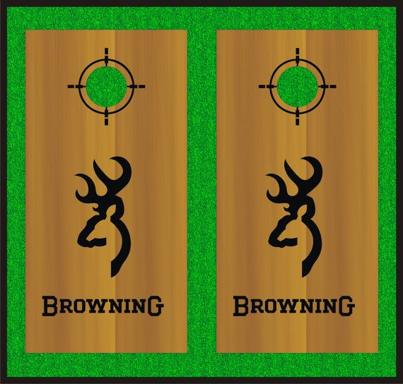 Hey, I found this really awesome Etsy listing at https://www.etsy.com/listing/241612239/browning-cornhole-board-decal-set-black