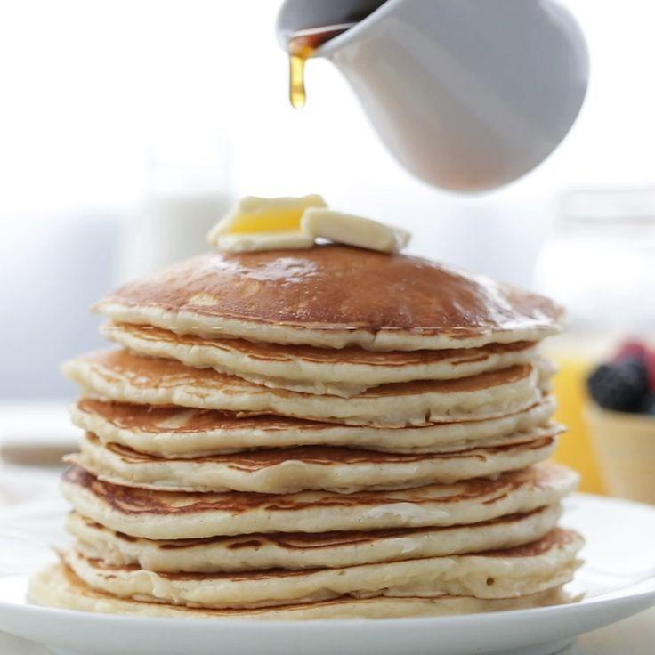 Homemade Buttermilk Pancakes Recipe Recipe In 2020 Pancake Recipe Easy Homemade Buttermilk Pancakes Tasty Pancakes