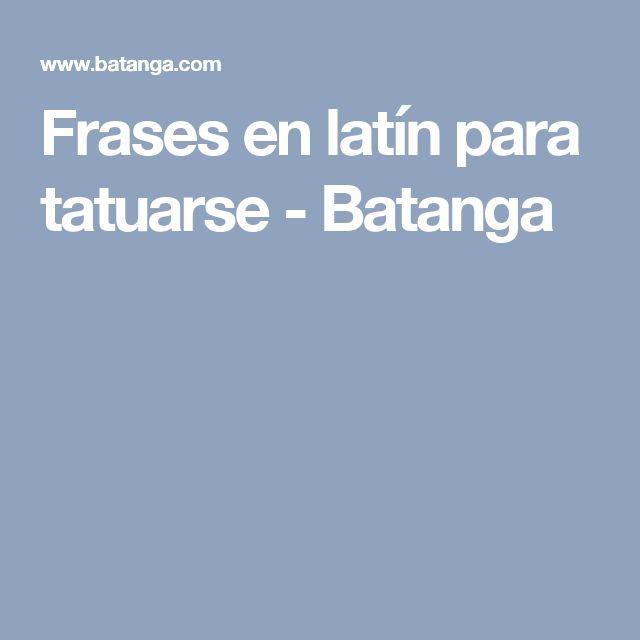 Frases en latín para tatuarse - Batanga