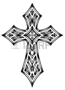tatouage gothique: Héraldique de la Croix-