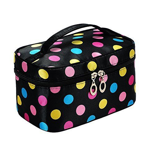 Portable Cute Small Travel Colorful Mirror Makeup Bag ...
