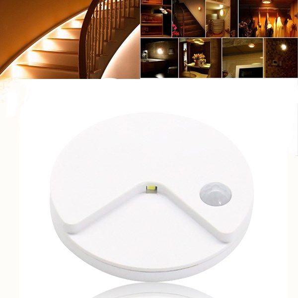 USB Rechargeable PIR Motion Sensor Light Control LED Night Lamp Wall Light for Cabinet Toilet Aisle