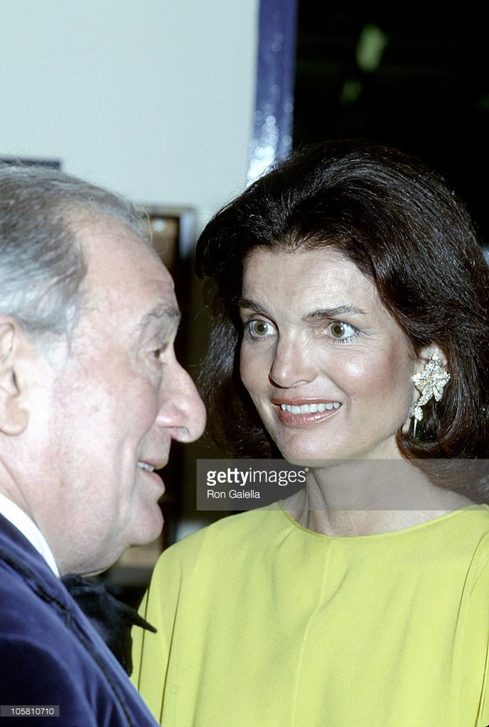 Jackie Onassis and Sam Spiegal during Jackie Onassis At Post Party After The Ballet At The Metropolitan Opera House at Tavern on the Green in New York City, New York, United States.