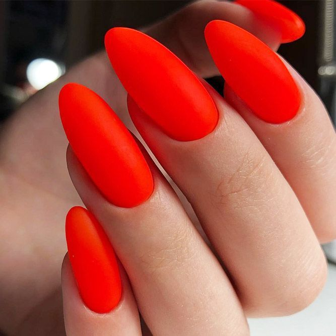30 Red Nails Designs For Any Occasion Red Nail Designs Almond Acrylic Nails Red Acrylic Nails